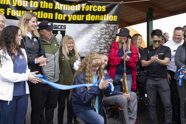 AFFF, WWAR debut new $61K handicap accessible pavilion at veteran-focused city park